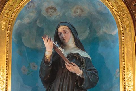 Przed małżeństwem z nim uratowała mnie św. Rita